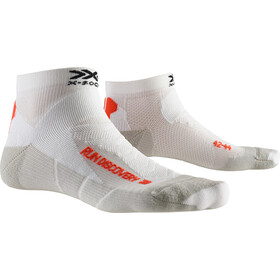 X-Socks Run Discovery Calcetines Running Hombre, arctic white/dolomite grey